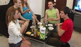 Drunk Russian teens are about to get it on