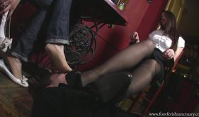 Two femdom girlfriends humiliating a slave to the best of their abilities