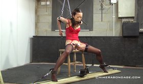 Chimera bondage is making this petite asian girl obey and listen