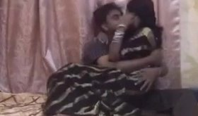 A very hot Indian slut sucks a big fat cock