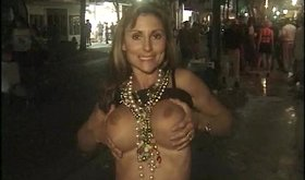 Party girls don't mind showing their natural tits