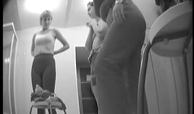 Spy cam footage showing two girlfriends changing